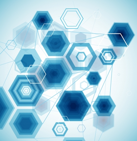 Abstract Hexagonal Background  Vector Vector