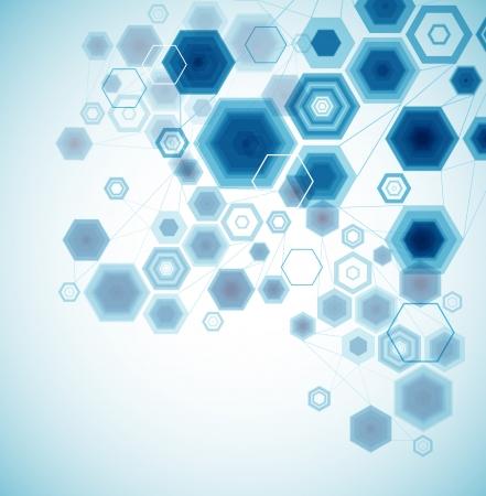 Resumen de vectores de fondo hexagonal Ilustración de vector