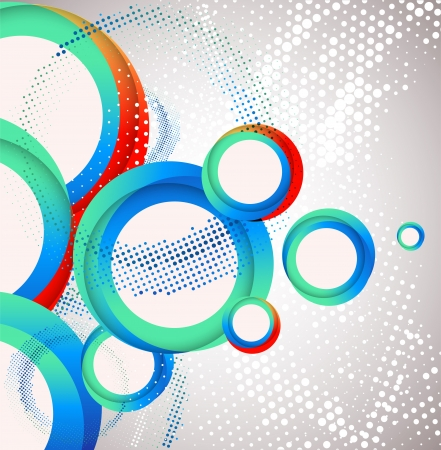 Abstract circle background. Vector Vector