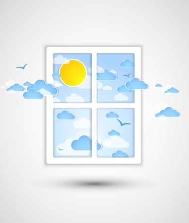 flowed: Good weather after a window