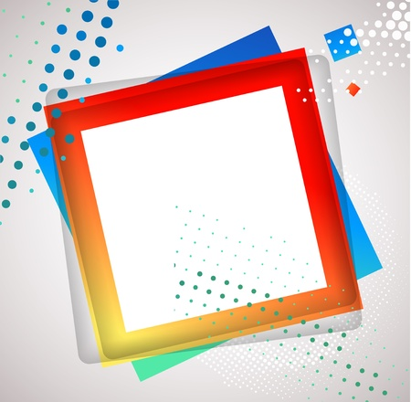 Colorful Square blank background