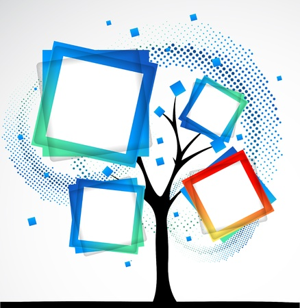 abstract: Abstract tree. Vector