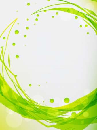 executed: Abstract background, executed in green tone.