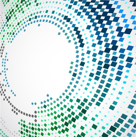 halftone background: Abstract background with the chaotically located  rectangles in an oval form