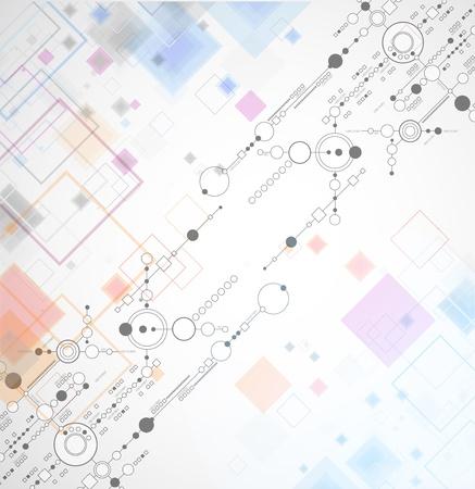 Résumé arrière-plan technologique avec divers éléments technologiques