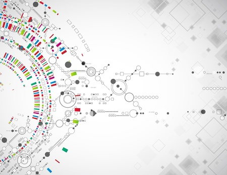 tecnología: Fondo tecnológico abstracto con diversos elementos tecnológicos