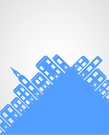 City silhouette background. Vector