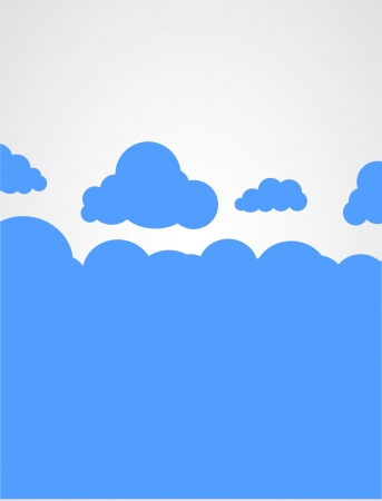 Cloud silhouette background.