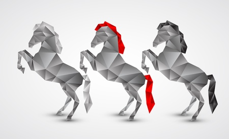 Horse isolated on a white background Vector
