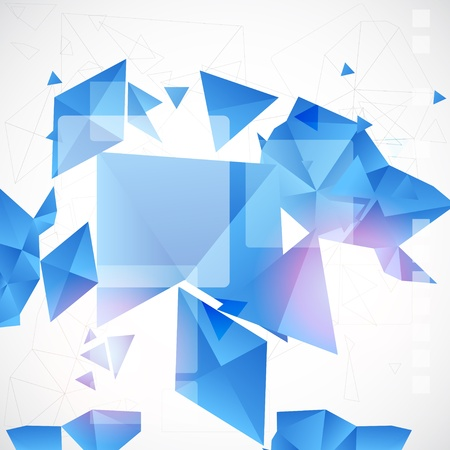 fractal: Abstract blue futuristic background for design