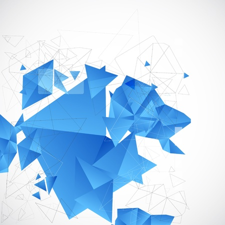 Abstract blue futuristic background for design Vector