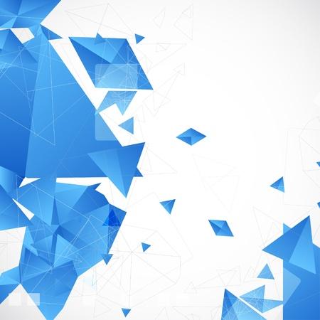 poligonos: Fondo futurista abstracto azul para el dise�o