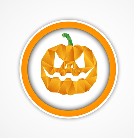 Halloween background. Pumpkin face. Vector