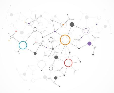 Technologie couleur Réseau fond de la communication