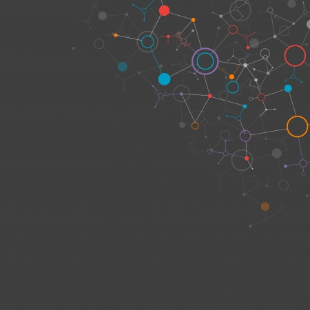 Dark network color technology communication background