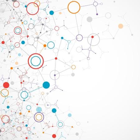 Tecnología de color de fondo la comunicación de red
