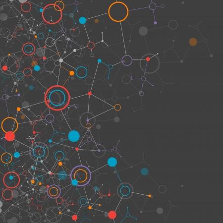 Sombre réseau couleur de fond la technologie de communication