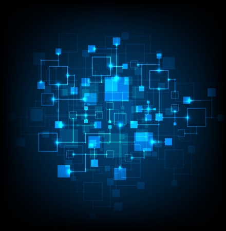 energy grid: Abstract background, technology theme Illustration