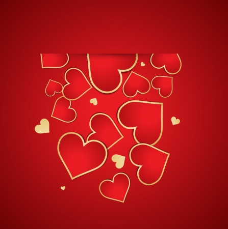 Valentines day background. Vector
