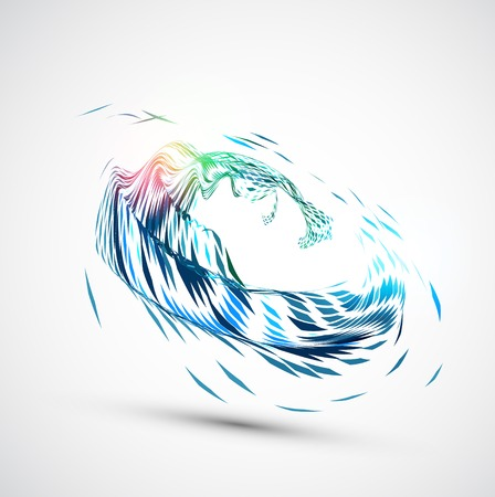 Abstract wave. Vector Vector