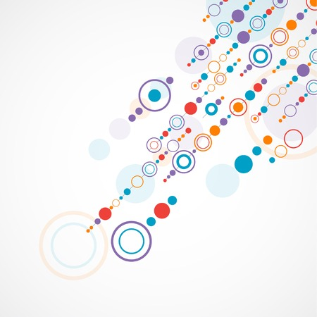 concentric: Abstract background with color circle and dotts Illustration