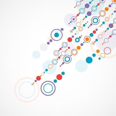 circulos concentricos: Resumen de antecedentes con el círculo de color y dotts Vectores