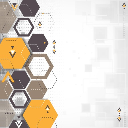 hexagonal pattern: Abstract background with hexagonal shapes Illustration