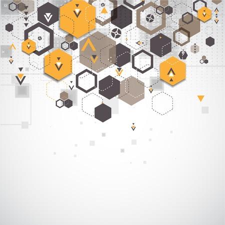 Abstracte achtergrond met zeshoekige vormen