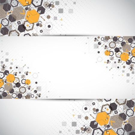 Abstract background with hexagonal shapes Иллюстрация