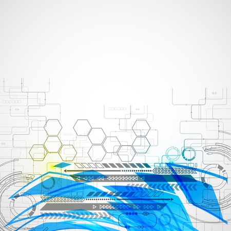 Abstract technology background with color lights Vector