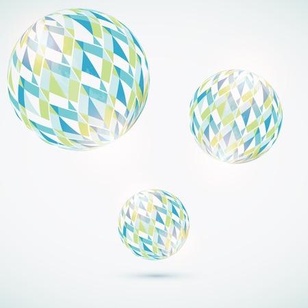 circle shape: Abstract globe symbol  Illustration