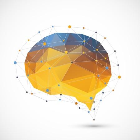 Cervello triangolo sfondo