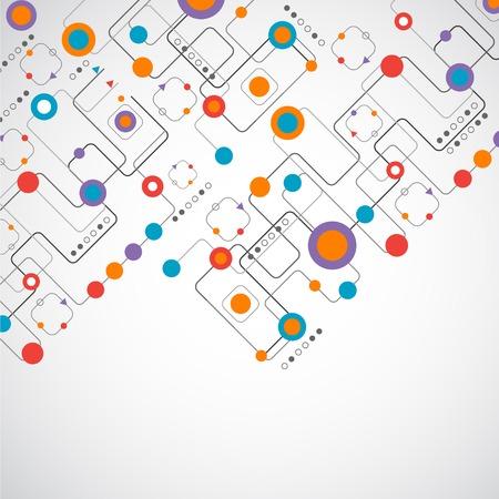 технология: Абстрактный фон technplogy  концепция сети