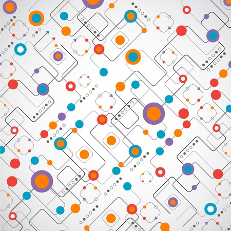 Abstract technplogy background Network concept