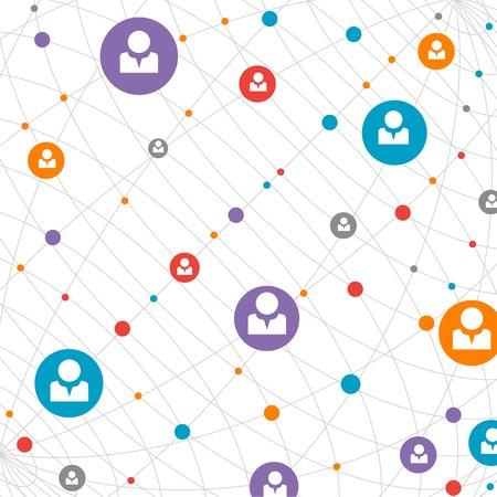 Network concept  Social media Illustration