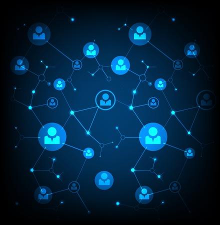 네트워크 개념  소셜 미디어 일러스트