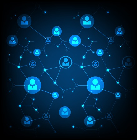 network concept: Network concept  Social media Illustration
