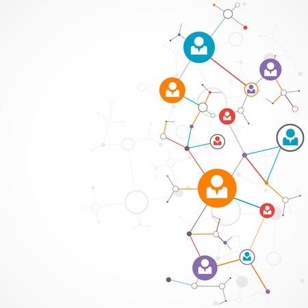 Network concept  Social media 向量圖像