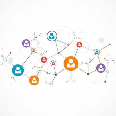 Netwerkconcept  Social media Stock Illustratie