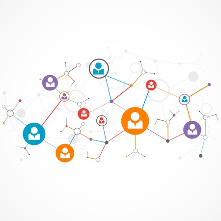 Network concept  Social media Illustration