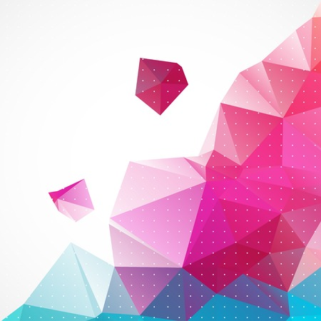 Business abstract triangle corporate background. Vector