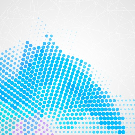 dotted lines: Abstract colorful creative circles background design Illustration