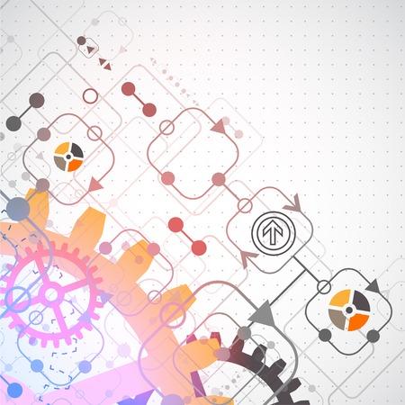 Abstracte achtergrond met technologische elementen