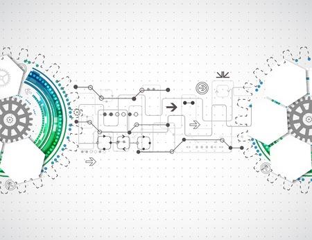 Résumé arrière-plan technologique avec divers éléments technologiques Banque d'images - 31871758