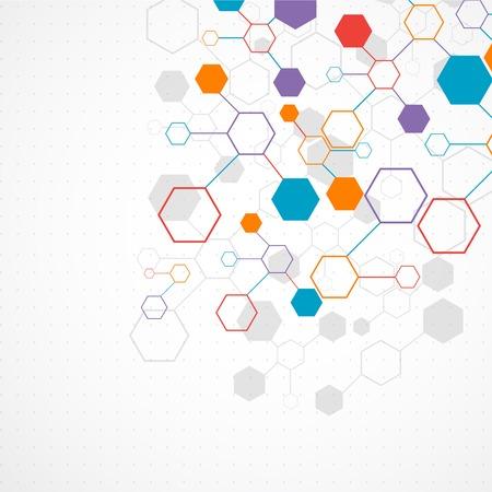 Síťová barva technologie komunikace pozadí Ilustrace