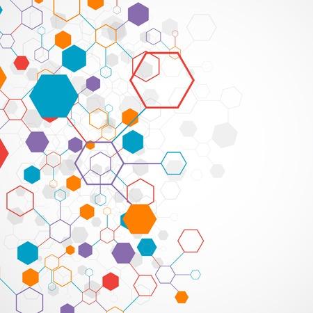 Network color technology communication background 일러스트
