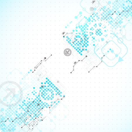 Abstract technology business background Vector