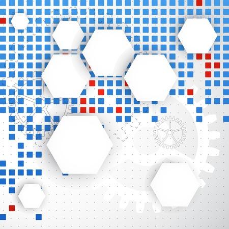 Abstract blank. Pixel art. Vector Banco de Imagens - 32142569