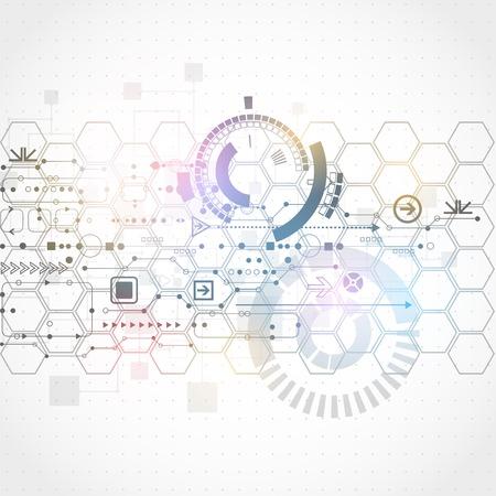 抽象的な未来的なコンピューター技術のビジネスの背景