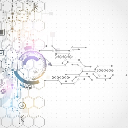 tecnolog�a informatica: Fondo abstracto de la tecnolog�a  Concepto de red Vectores